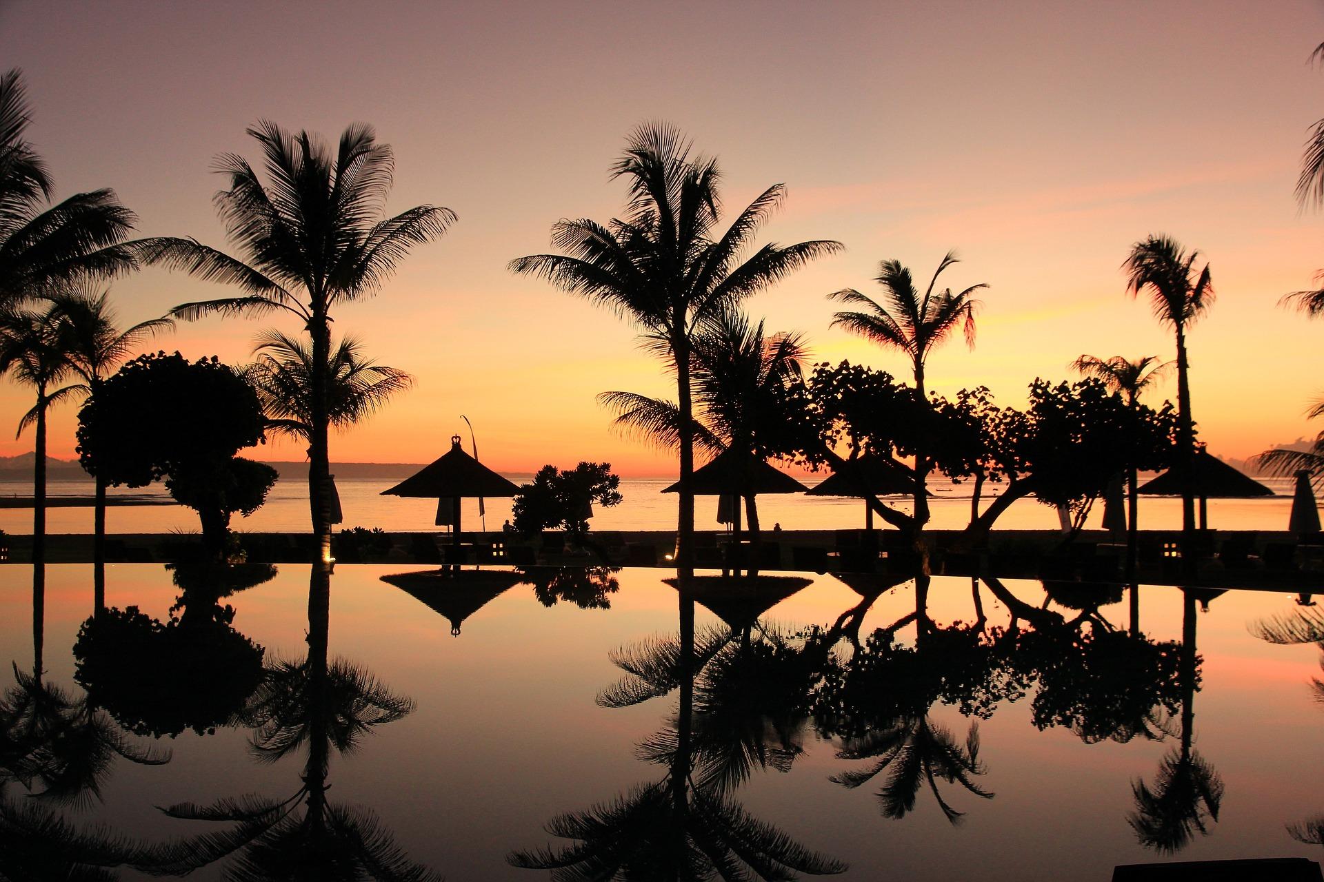 Indonezja - zachód słońca