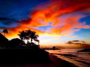 Szeszele - zachód słońca
