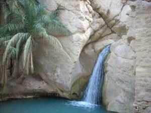 Skalny wodospad w Tunezji