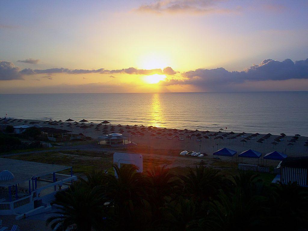 Zachód słońca Hammamet